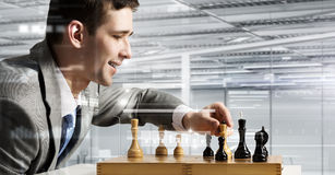 Playing his business strategy Stock Images