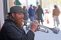 Playing His Trumpet For Free Stock Photos