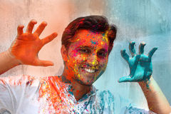 Playing Holi Royalty Free Stock Photos