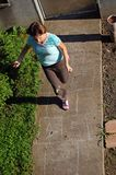 Playing hopscotch Stock Images