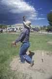 Playing horseshoes Royalty Free Stock Photo