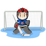 Playing Ice Hockey Player Stock Photography
