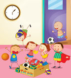 Playing. Illustration of kids playing together Royalty Free Stock Photo