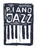 Playing the jazz piano. Hand drawn . Royalty Free Stock Images
