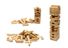 Playing jenga Stock Image