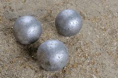 Playing jeu de boules Royalty Free Stock Image