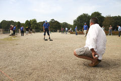 Playing Jeu de boules Royalty Free Stock Photo