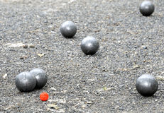 Playing jeu de boules Stock Photography