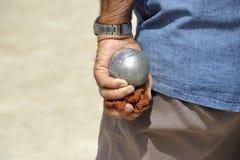 Playing jeu de boules Stock Photos