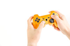 Playing With Joystick Royalty Free Stock Image