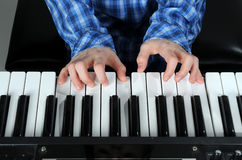 Playing keyboard Royalty Free Stock Photography