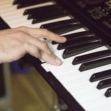 Playing keyboard Royalty Free Stock Photo