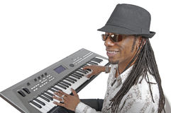Playing the keyboards Stock Image