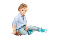 Playing kid boy Stock Images