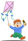 Playing kite Stock Images
