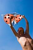 Playing the kite Stock Photo