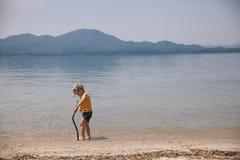 Playing in lake Royalty Free Stock Photos