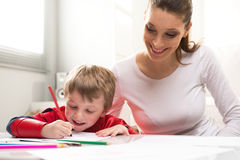 Playing and learning together stock photography