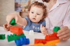 Playing lego Stock Photo