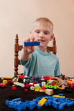 Playing With Lego Royalty Free Stock Photo