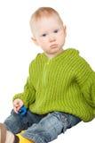 Playing little boy portrait Stock Image