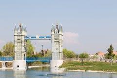 Playing London Bridge in Madrid Stock Images