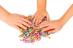 Playing With Loom Bands Stock Photo