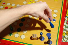 Playing ludo Royalty Free Stock Photography