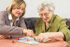 Playing ludo Royalty Free Stock Photos