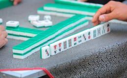 Playing mahjong Royalty Free Stock Photos