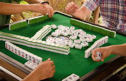 Playing mahjong Royalty Free Stock Photography