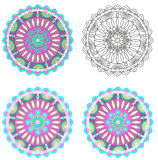 Playing with mandala Royalty Free Stock Photos