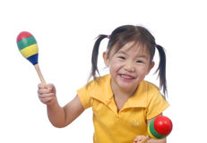Playing Maracas Royalty Free Stock Photography