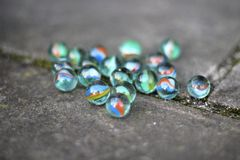 Playing marbles Royalty Free Stock Image