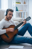 Playing that melody. Royalty Free Stock Image