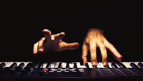 Playing Midi Controller Stock Image