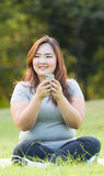 Playing mobile phone Royalty Free Stock Photography