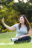 Playing mobile phone Royalty Free Stock Images