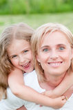 Playing with mother Royalty Free Stock Images