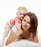 Playing mother and baby Stock Photos