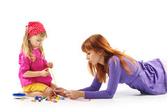 Playing mother and daughter Royalty Free Stock Image