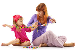 Playing mother and daughter Royalty Free Stock Photos