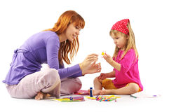 Playing mother and daughter Royalty Free Stock Images