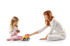 Playing mother and daughter Royalty Free Stock Photography