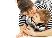 Playing mother and son Stock Photo