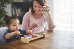 Playing music together Royalty Free Stock Photo
