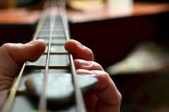 Playing  a musical instrument Stock Photos