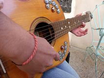 Playing my guitar royalty free stock photos