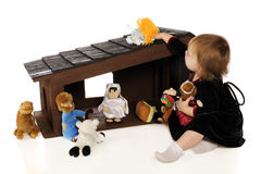 Playing Nativity Royalty Free Stock Images