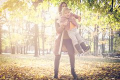 Playing in nature. royalty free stock photo